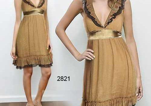 vestidos dorados de diario