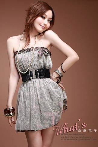 vestidos strapples