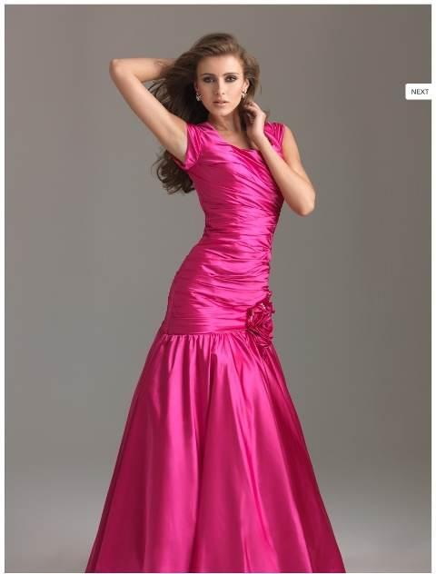 vestidos manga corta