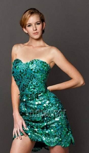 vestidos largos color verde