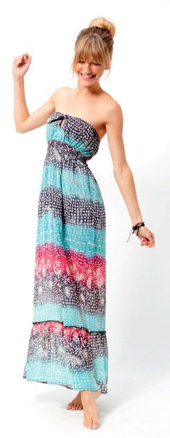 modelos de vestidos largos estampados