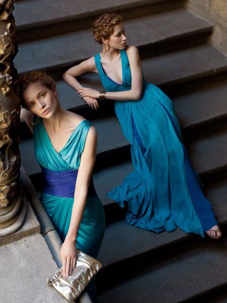 vestidos de boda color azul