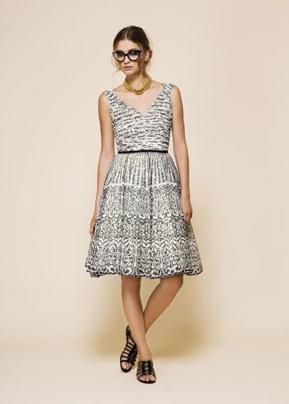 vestidos blanco y negro 2012