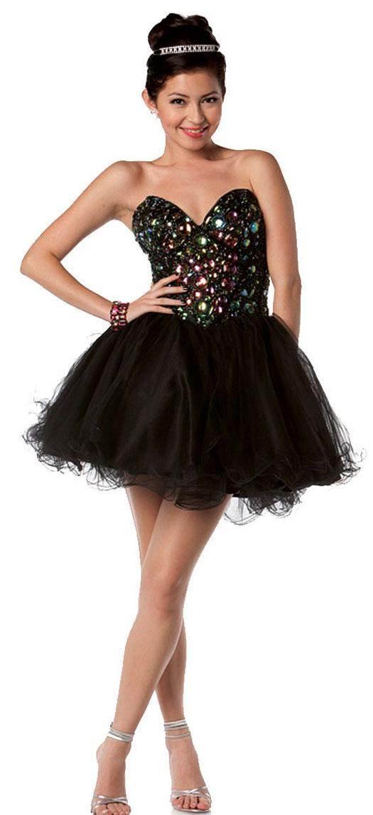 Hermosos vestidos vaporosos cortos para fiestas