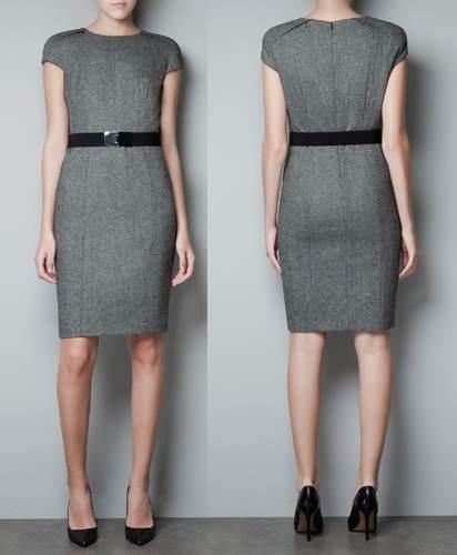 vestidos gris y negro