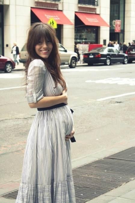 Ropa casual para embarazadas de moda 2012