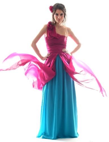 vestidos coloridos de noche