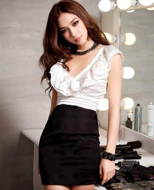 vestidos negro y blanco
