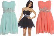 Modelos de vestidos de fiesta hechos de gasa