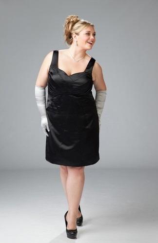 Vestidos de color negro para gorditas de moda 2012