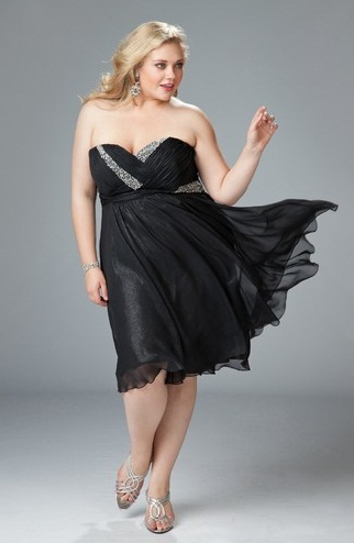 vestidos negro con plata