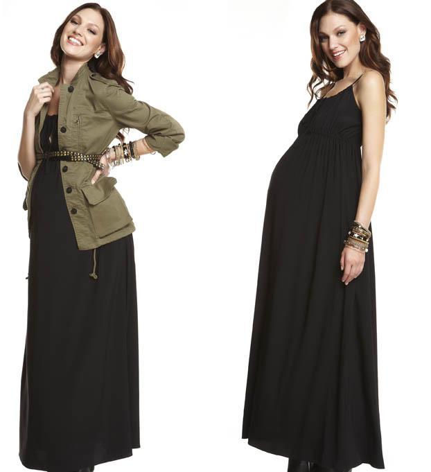 vestidos negros de maternidad