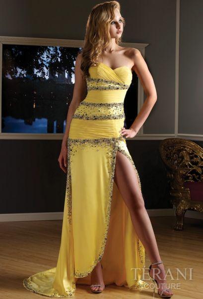 vestidos largos color amarillo