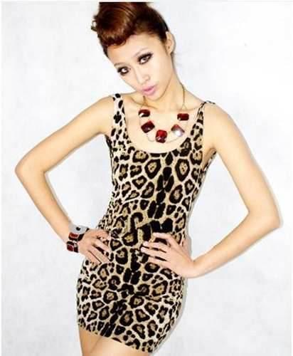 Modelos de vestidos estampados de leopardo