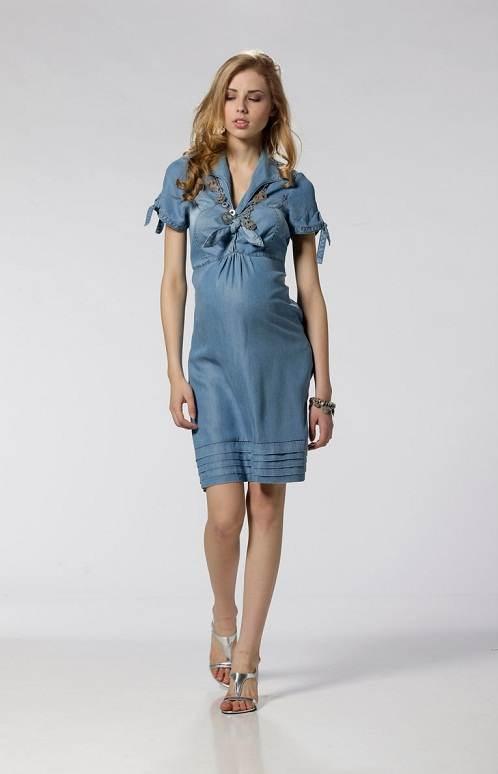 Embarazadas a la moda: Vestidos y looks de moda 2012