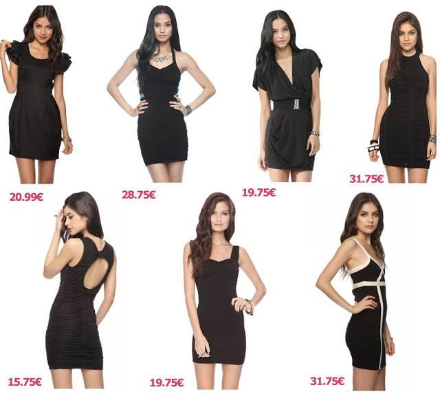 vestidos negros para el día