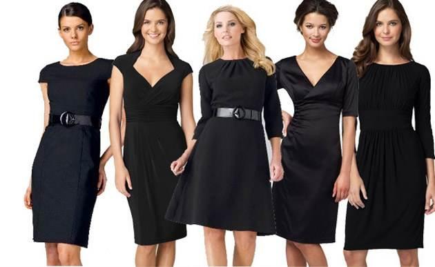 Variedad de modelos de vestidos negros para cualquier ocasión