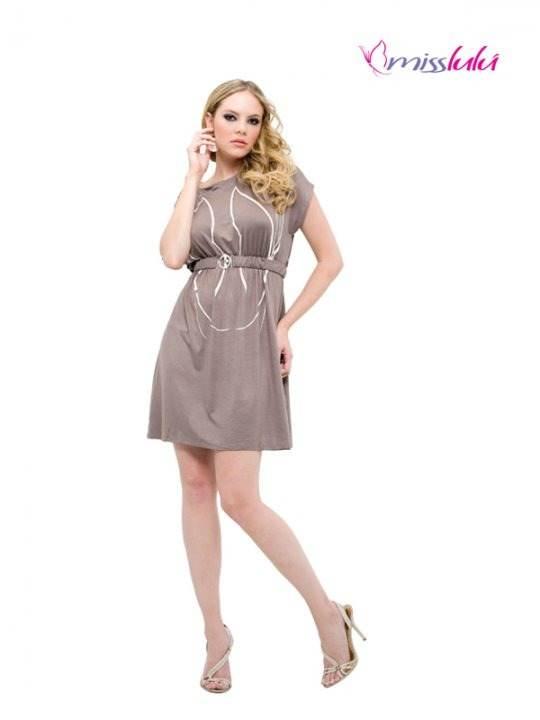 Preciosos modelos de vestidos cortos casuales 2012