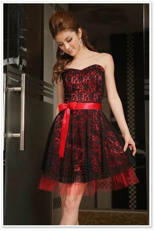 vestidos de encaje de colores