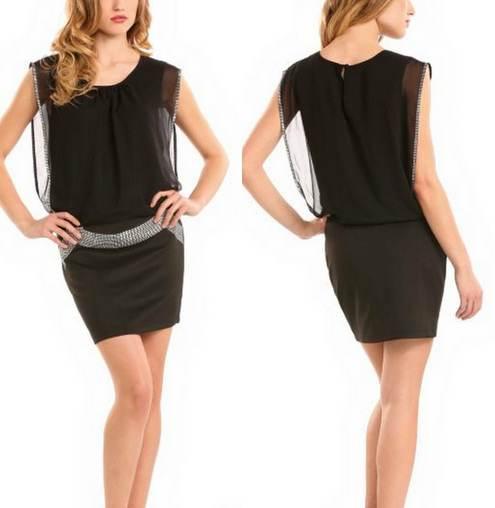 vestidos negros de moda 2012