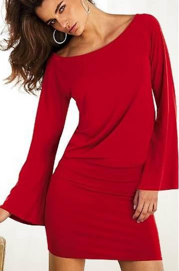 vestidos ceñidos color rojo