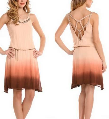 Vestidos frescos de verano, elegantes modelos 2012