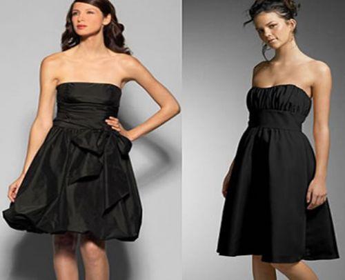 vestidos cortos de colores oscuros