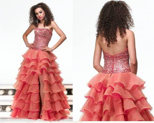 Modelos de vestidos vaporosos para fiestas de noche| 2012