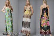 Modelos de vestidos largos veraniegos