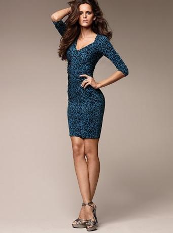 vestidos azules de diario