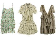 Vestidos con volantes, escoge tus mejores modelos 2012