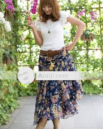 faldas largas de moda 2012