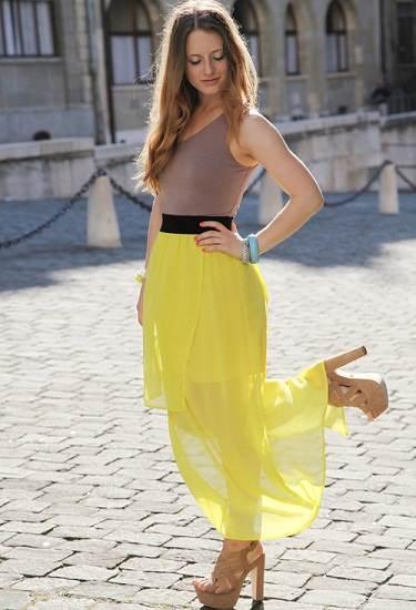 faldas casuales largos