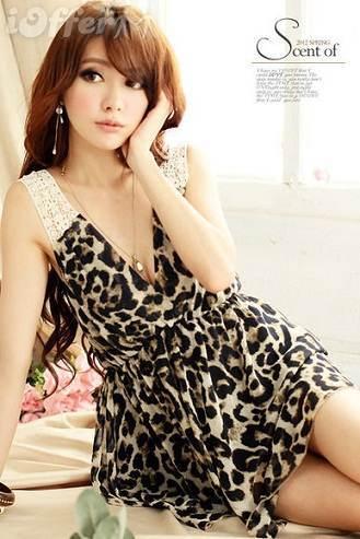 vestidos estampados de leopardo