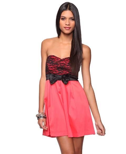 vestidos de dos colores
