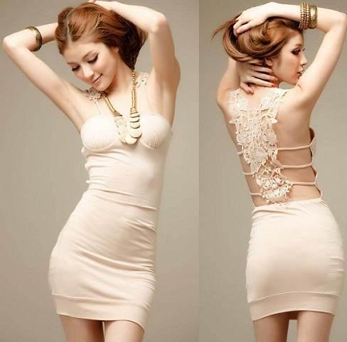 vestidos sexys color plata