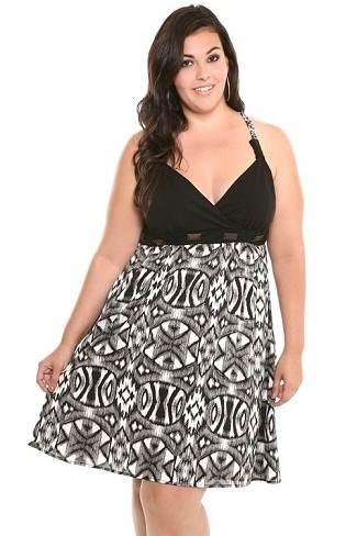 Vestidos cortos y largos de fiesta para gorditas 2012