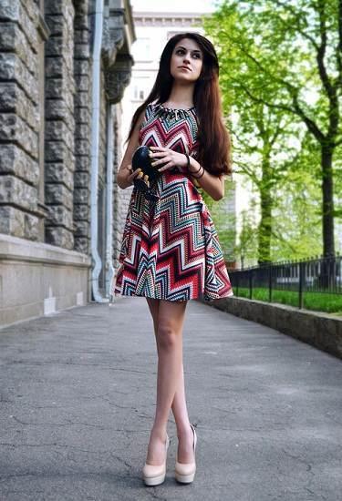 vestidos sencillos de moda 2012