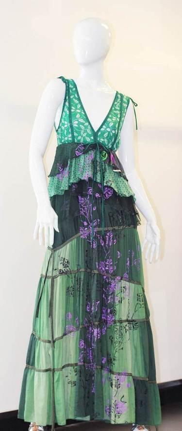 Vestidos largos con hermosas combinaciones