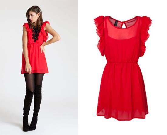 vestidos rojos y negros de invierno