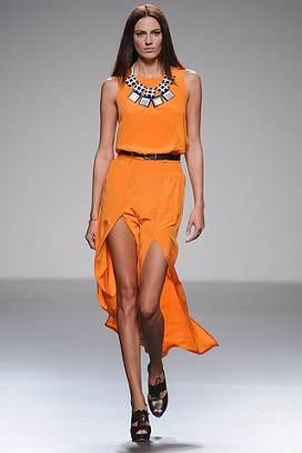 vestidos anaranjados casuales
