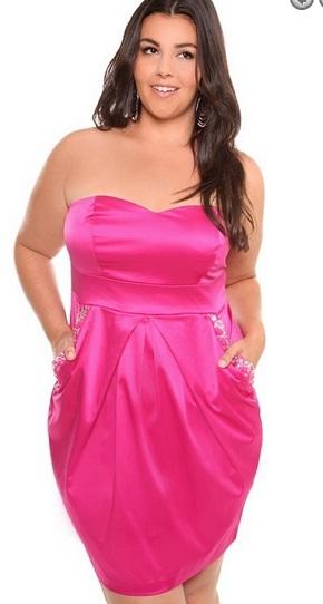 Preciosos vestidos cortos para gorditas 2012