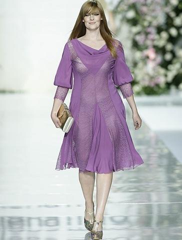 vestidos gorditas manga larga
