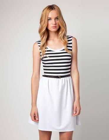 vestidos con rayas 2012