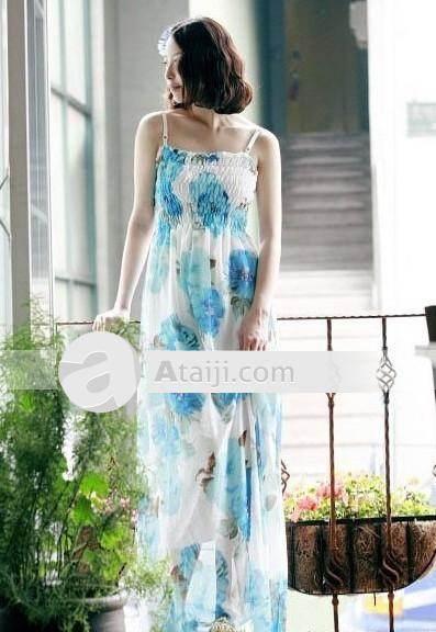 vestidos largos con flores