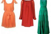 Vestidos de colores fuertes para fiestas