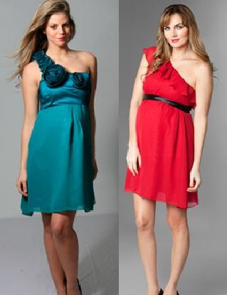 Vestidos de navidad para embarazadas 2012, nuevos modelos