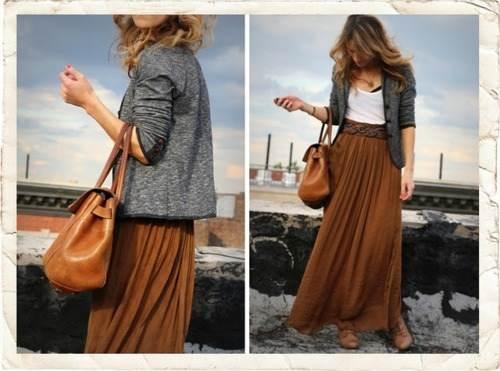 faldas largas para el día