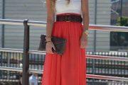 Como combinar faldas largas para el día y la noche
