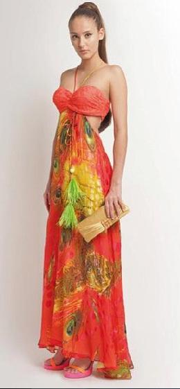 vestidos estampados de colores